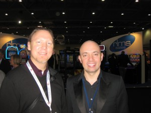 Chris Bisha with Simon Davis of Soundnet at EAG