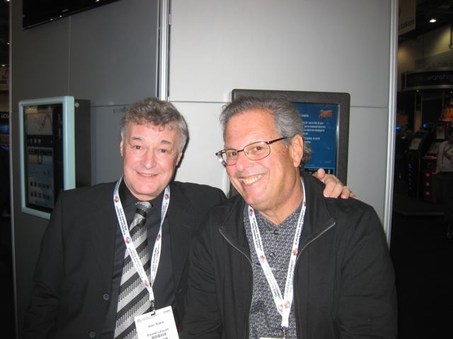 Old friends Joel Friedman and Alan Black of Sound Leisure at EAG